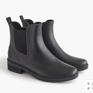 J Crew Black Matte Chelsea Rain Boot